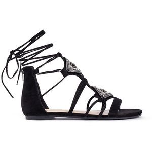 JustFab Lace Up Gladiator Sandals